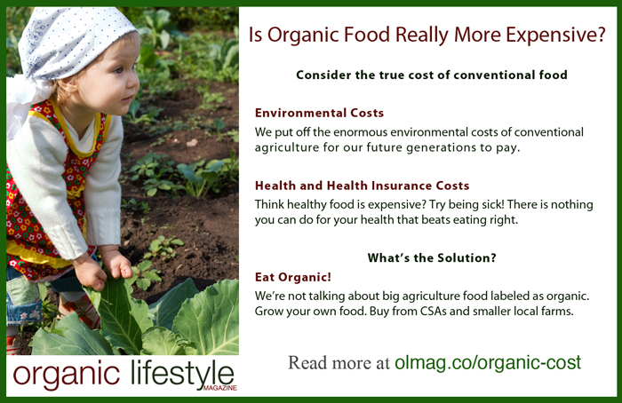 Organic Food Expensive Infographic