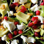 Raspberry, Arugula, Avocado, Goat Cheese Salad